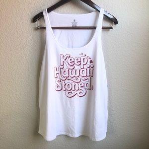 Volcom graphic tank top sleeveless T-shirt white